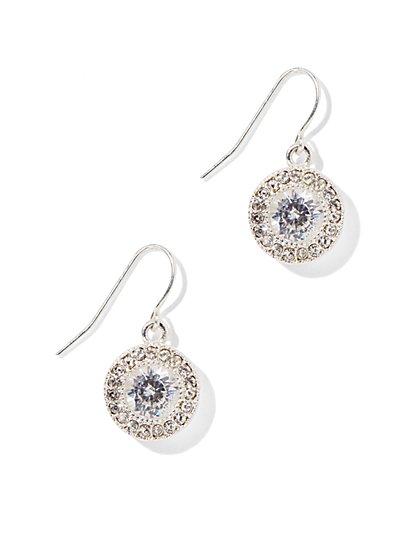 Glittering Round Drop Earring  - New York & Company