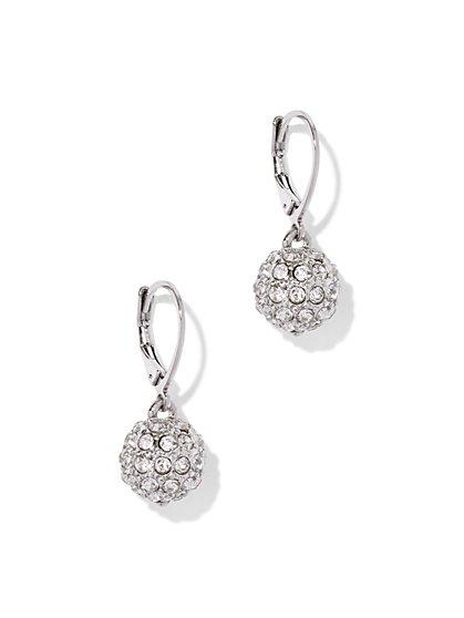 Glittering Spherical Drop Earring  - New York & Company