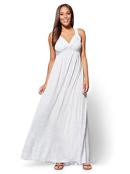 Goddess Crossover Maxi Dress - Space-Dye - New York & Company