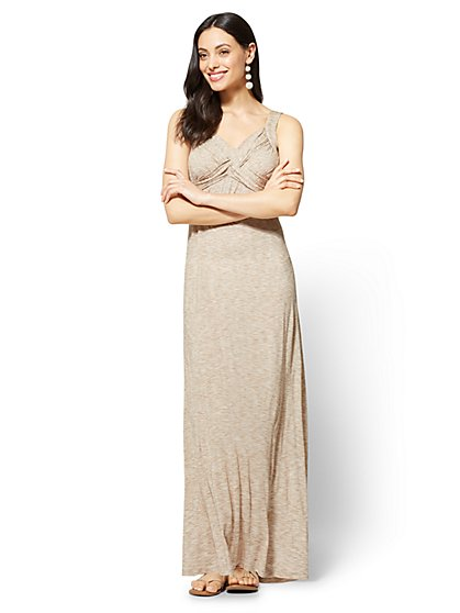 Goddess Crossover Maxi Dress - Space-Dye - New York & Company