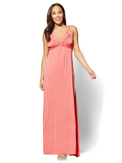 Goddess Crossover Maxi Dress - New York & Company