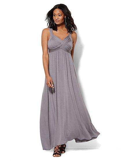 Goddess Crossover Maxi Dress - New York & Company