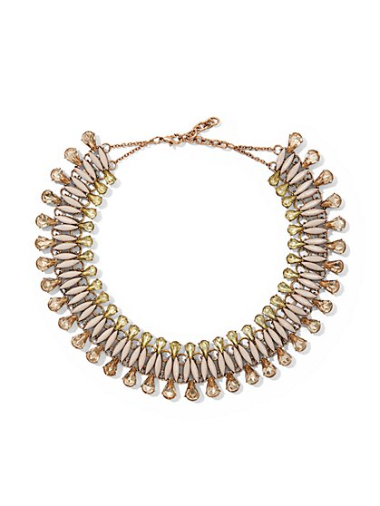 Goldtone Beaded Collar Necklace - New York & Company