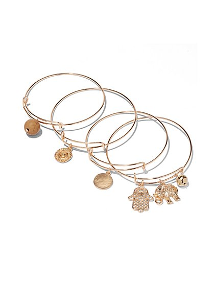 Goldtone Charm Bracelet Set - New York & Company