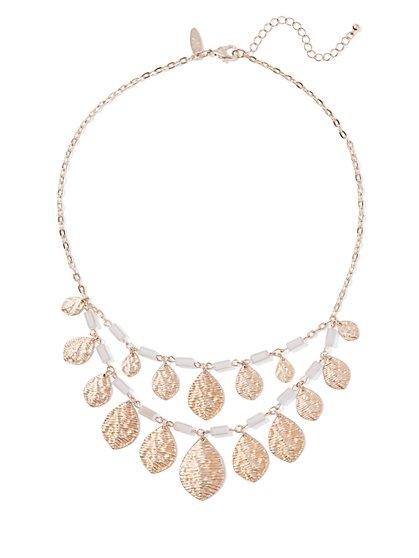 Goldtone Double-Row Teardrop Necklace  - New York & Company