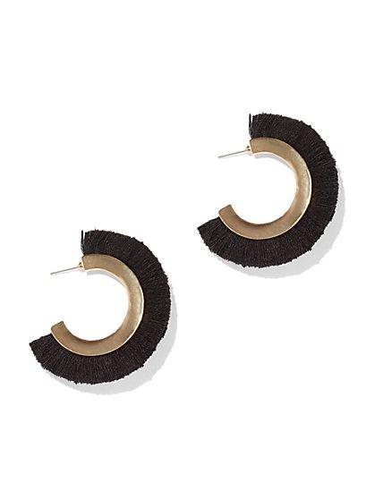 Goldtone Fan Hoop Earring - New York & Company