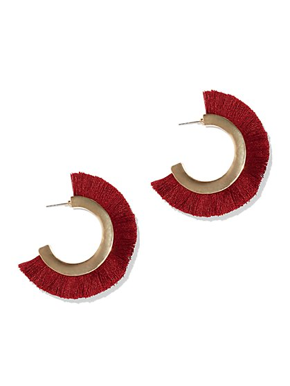 Goldtone Fan Hoop Earring - New York & Company