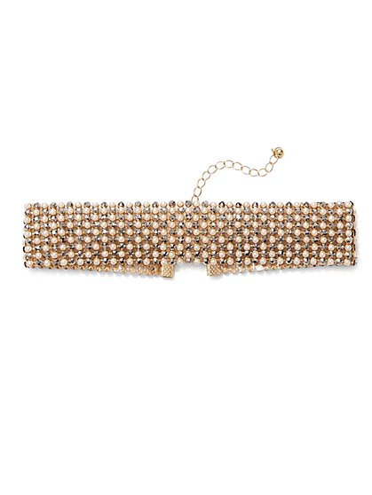 Goldtone Faux-Pearl Choker Necklace  - New York & Company