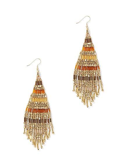 Goldtone Fringe Drop Earring  - New York & Company