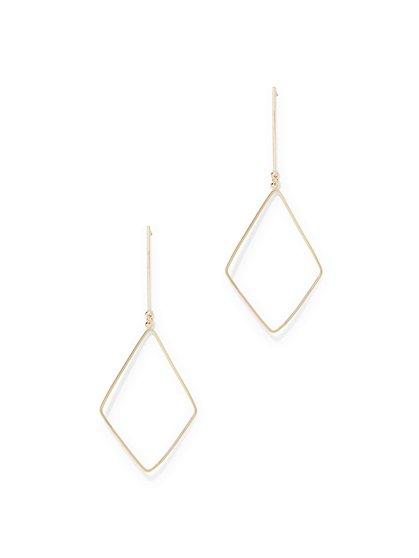 Goldtone Geo Drop Earring  - New York & Company