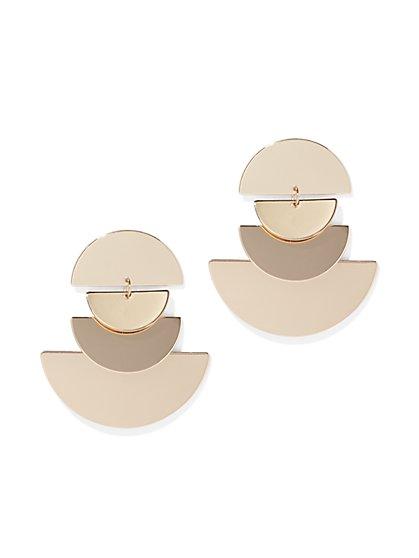 Goldtone Half-Disc Drop Earring - New York & Company