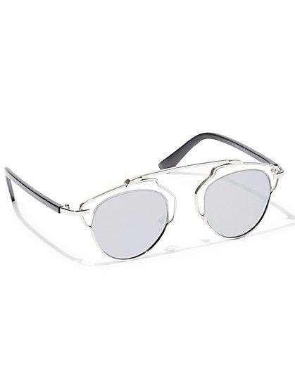 Goldtone-Hardware Sunglasses  - New York & Company