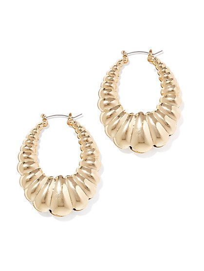 Goldtone Hoop Drop Earring  - New York & Company