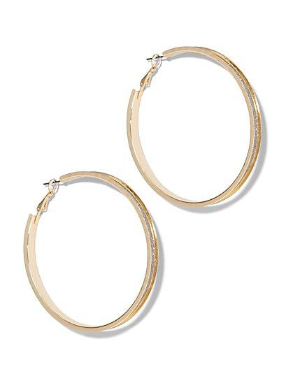 Goldtone Hoop Earring  - New York & Company