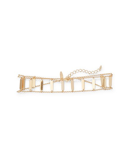 Goldtone Ladder Choker Necklace  - New York & Company
