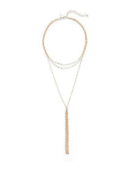 Goldtone Layered Necklace - New York & Company