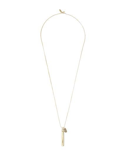Goldtone Linear Charm Necklace  - New York & Company