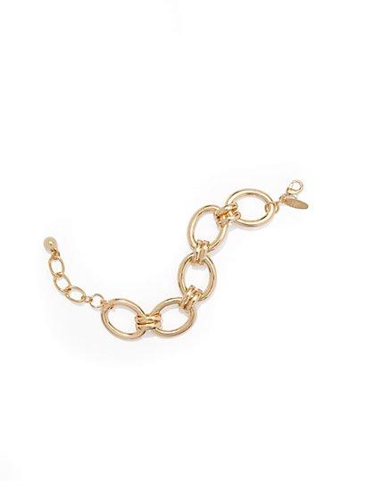Goldtone Link Bracelet  - New York & Company