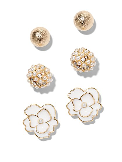 Goldtone Post Earring Set  - New York & Company