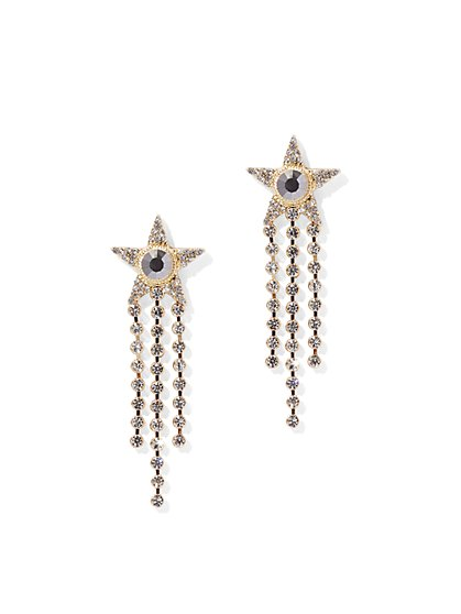 Goldtone Star & Fringe Drop Earring - New York & Company
