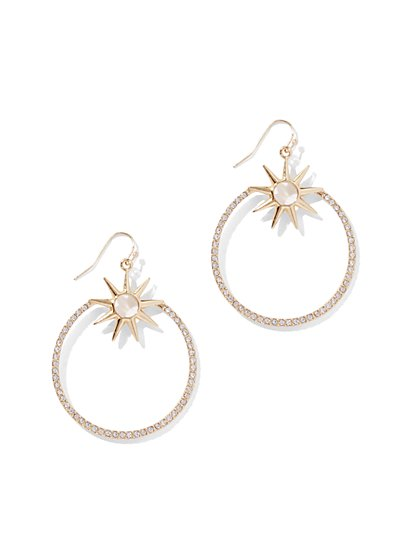 Goldtone Star & Hoop Drop Earring - New York & Company