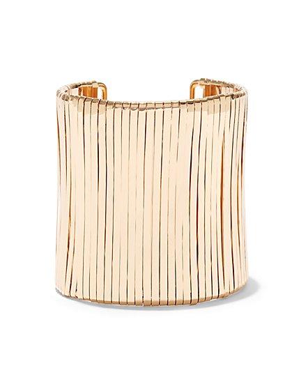 Goldtone Stretch Cuff Bracelet  - New York & Company