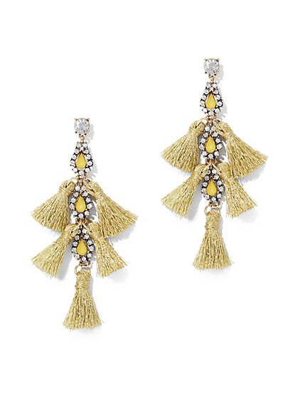 Goldtone Tassel Drop Earring  - New York & Company