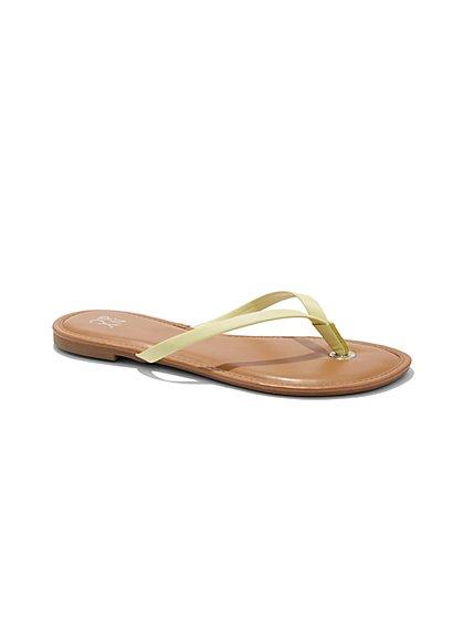 Grommet-Accent Flip-Flop Sandal  - New York & Company