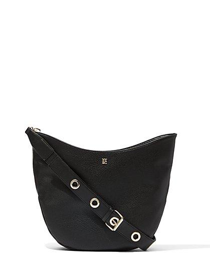 Grommet-Strap Hobo Bag  - New York & Company