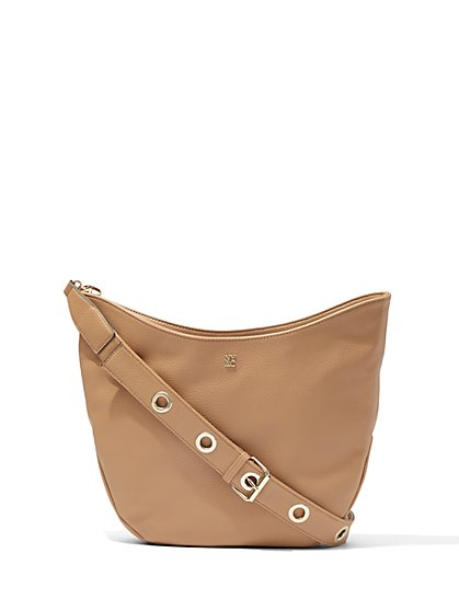 Grommet-Strap Hobo Bag  - New York & Company