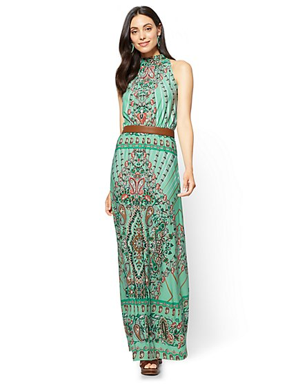 Halter Maxi Dress - Paisley - Tall - New York & Company