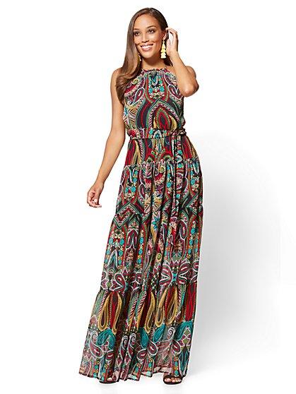 Halter Maxi Dress - Paisley - New York & Company