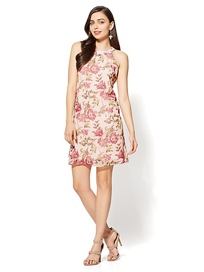Halter Shift Dress - Floral - New York & Company