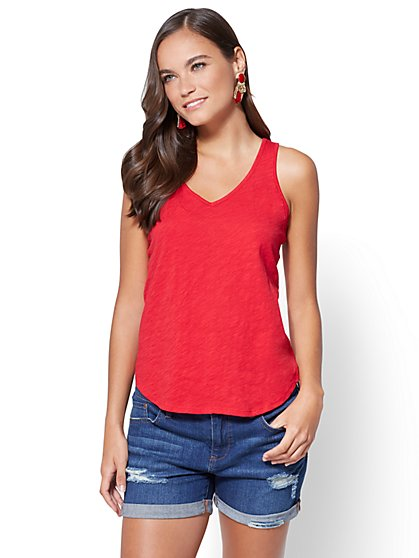 Hampton V-Neck Tank - New York & Company