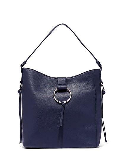 Hardware-Accent Hobo Bag - New York & Company
