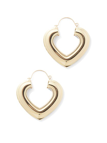 Heart Hoop Earring - New York & Company