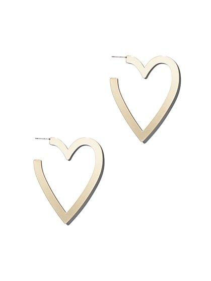 Heart-Shaped Hoop Earring - New York & Company