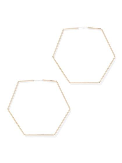 Hexagonal Hoop Drop Earring - New York & Company