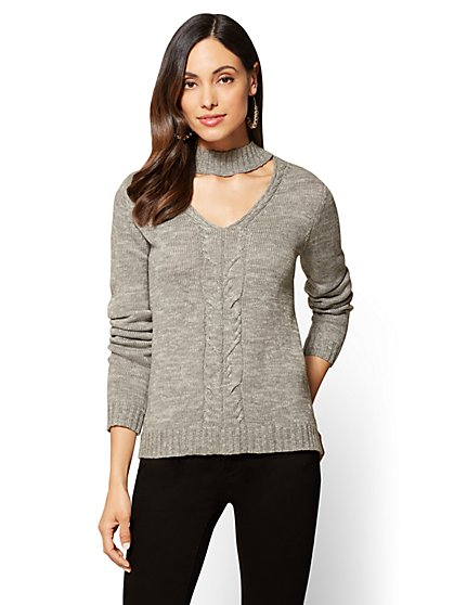 Hi-Lo Choker Sweater - New York & Company