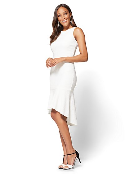 Hi-Lo Flounced Sheath Dress - New York & Company