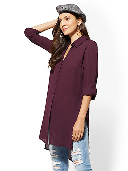 Hi-Lo Tunic Shirt - New York & Company