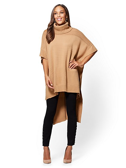 Hi-Lo Turtleneck Poncho  - New York & Company
