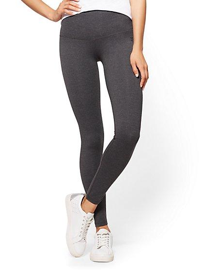 High-Waist Legging - Dark Heather Grey - New York & Company
