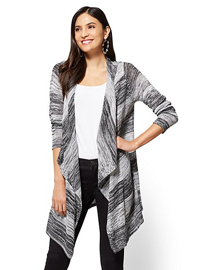 Hooded Open-Front Cardigan - New York & Company