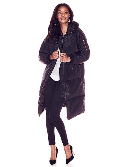 Hooded Puffer Coat - New York & Company