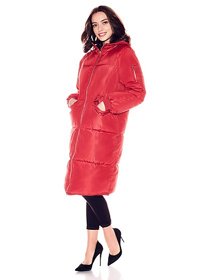 Hooded Puffer Coat - New York & Company