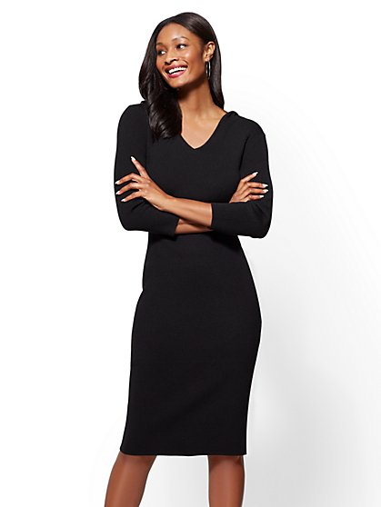 Hooded Sweater Dress - New York & Company