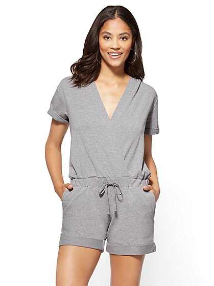 Hooded Wrap Romper - New York & Company