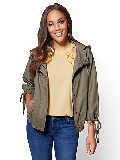 Hooded Zip Jacket - New York & Company