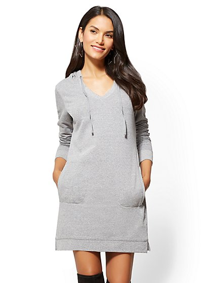 Hoodie Sweatshirt Dress - New York & Company